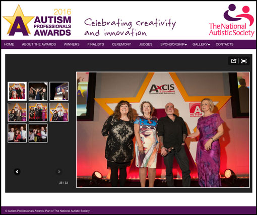 Autism Professional Awards 2016 - Winners