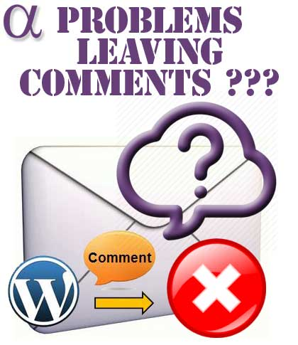 Problems with leaving comments...