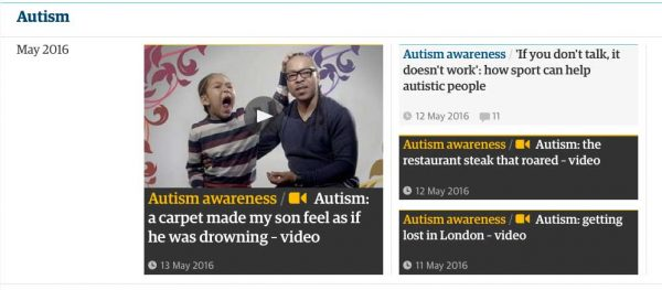 """Autism Society"" - The Guardian"