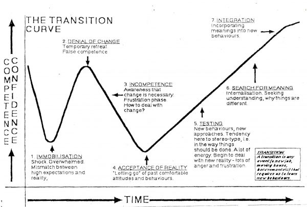 """Transition Curve"" - adjusting to a diagnosis"
