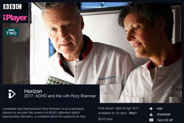 Horizon - 2017: ADHD and Me with Rory Bremner