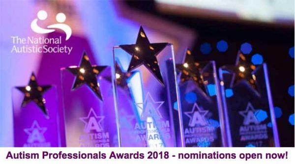 Autism Professionals Awards 2018 - nominations open now!