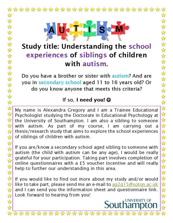Thesis - siblings of children with autism