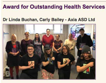 Axia-ASD Announced as Finalists in The Autism Professionals Awards 2018!